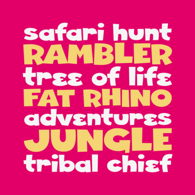 Fat Rhino by Pink Broccoli font by Pink Broccoli
