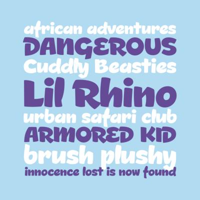 Lil Rhino font by Pink Broccoli