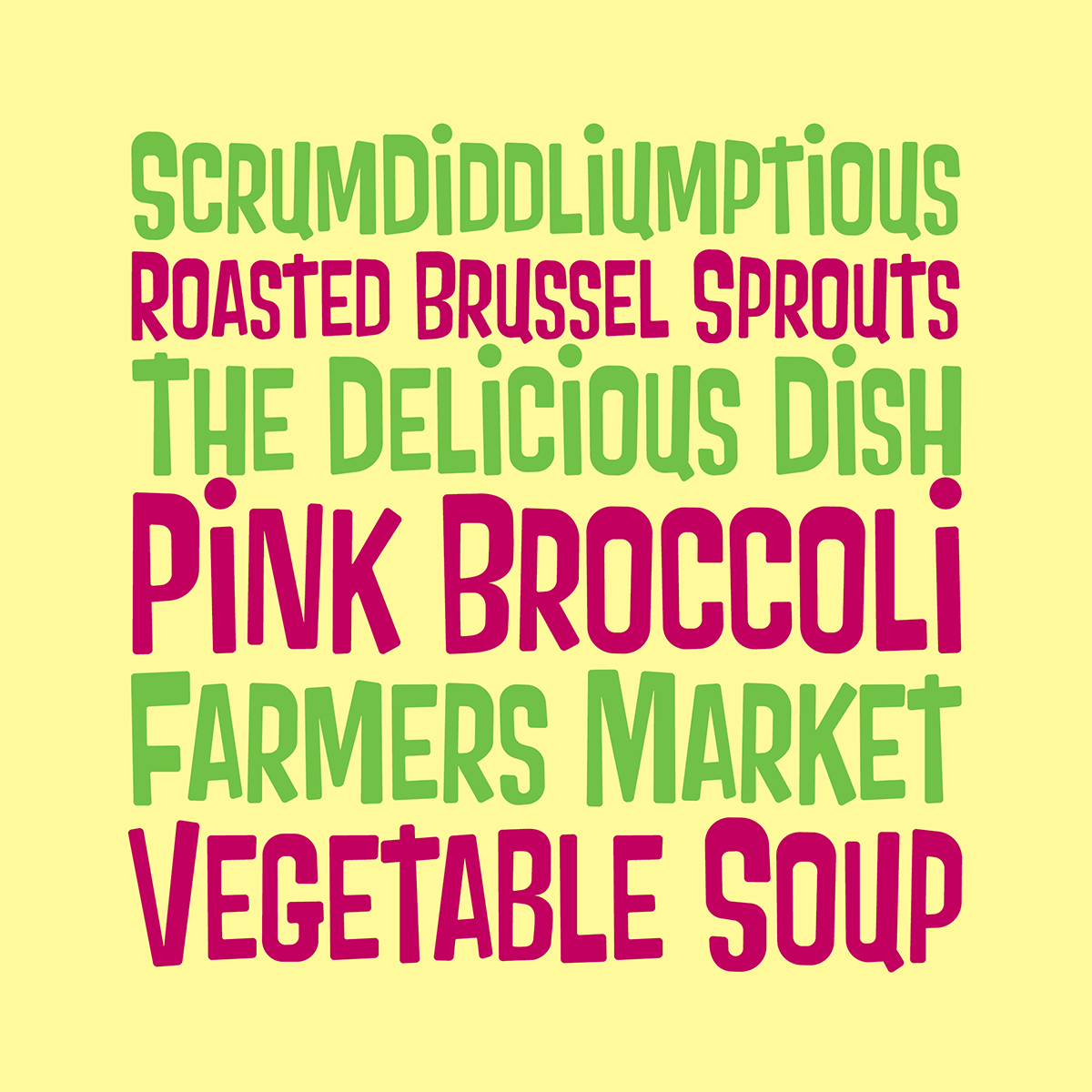 Pink Broccoli font preview