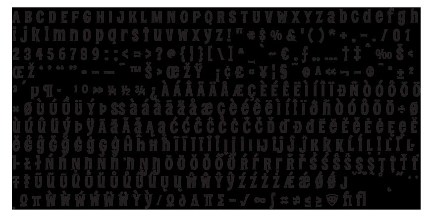 DeadRite Complete Character Set