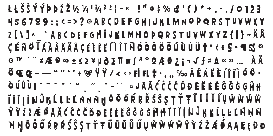 Fathoms Complete Character Set
