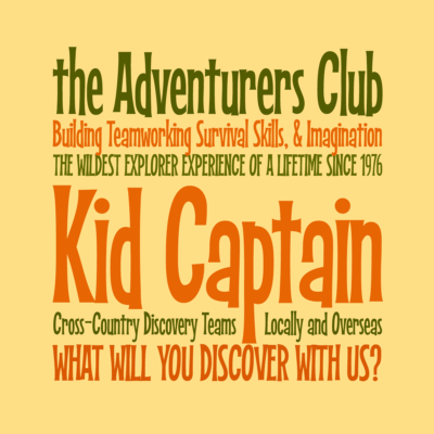 Kid Captain font by Pink Broccoli