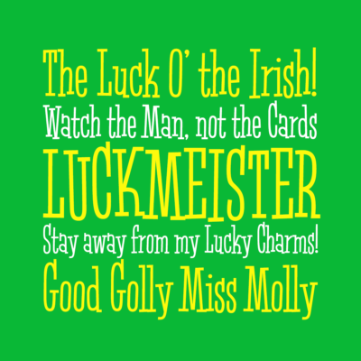 Luckmeister font by Pink Broccoli
