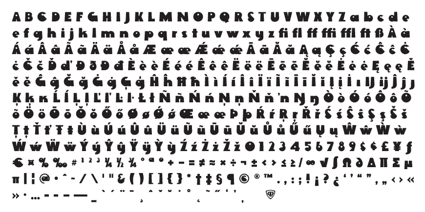 Rackem Complete Character Set
