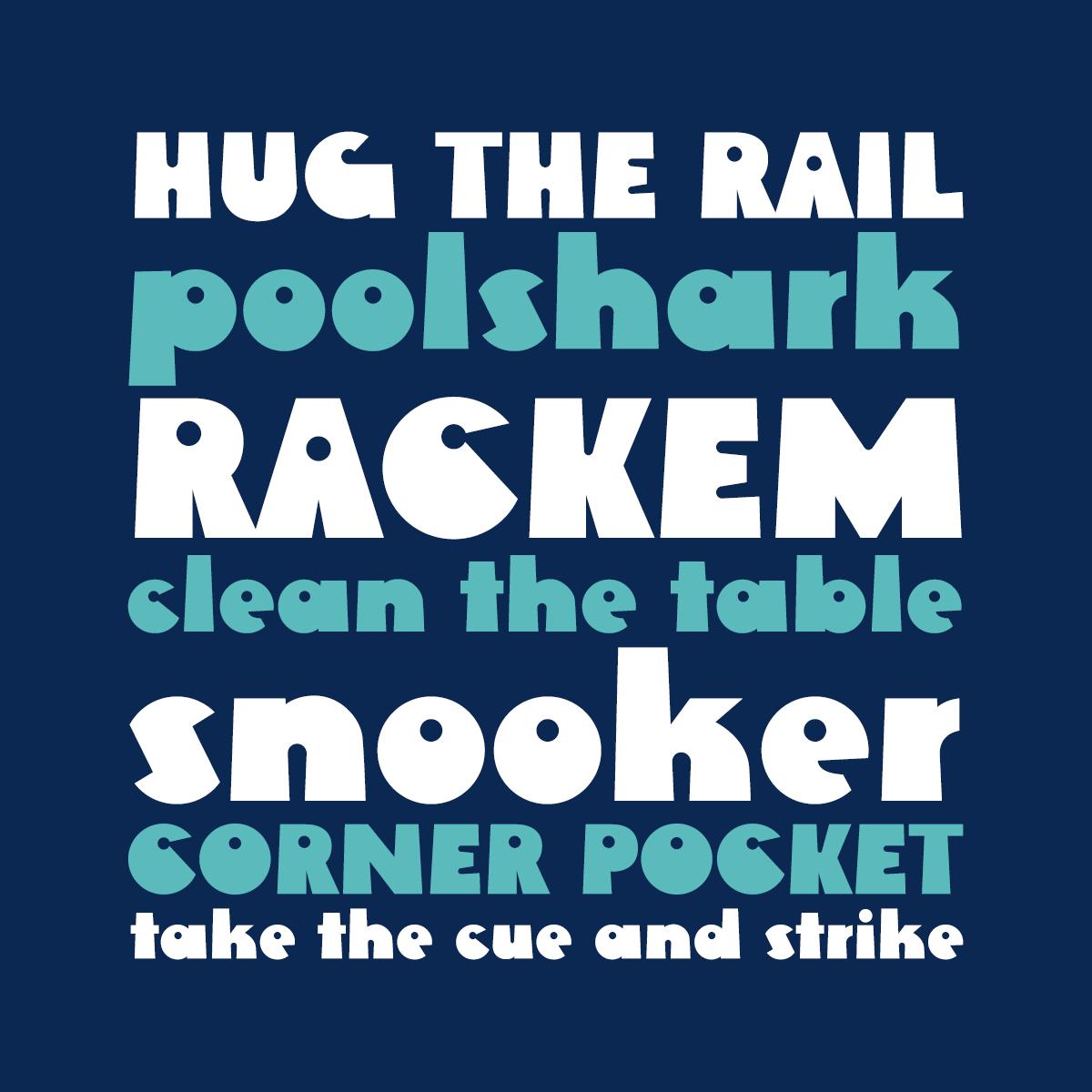 Rackem font by Pink Broccoli
