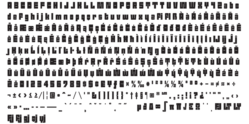 Sackem Family Complete Character Set