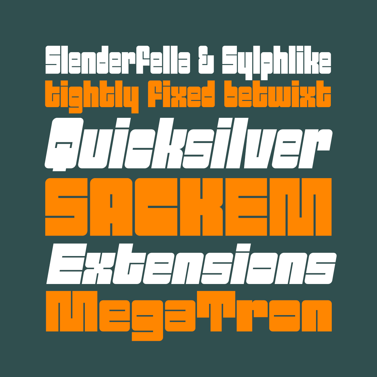 Sackem Family fonts by Pink Broccoli