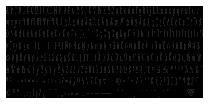 Spidertoes Complete Character Set