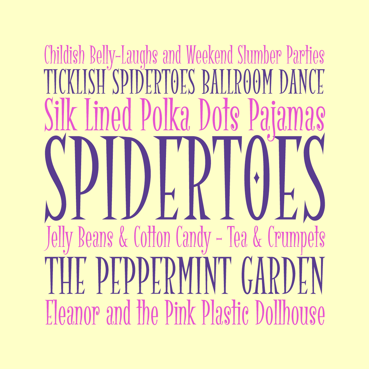 Spidertoes font by Pink Broccoli
