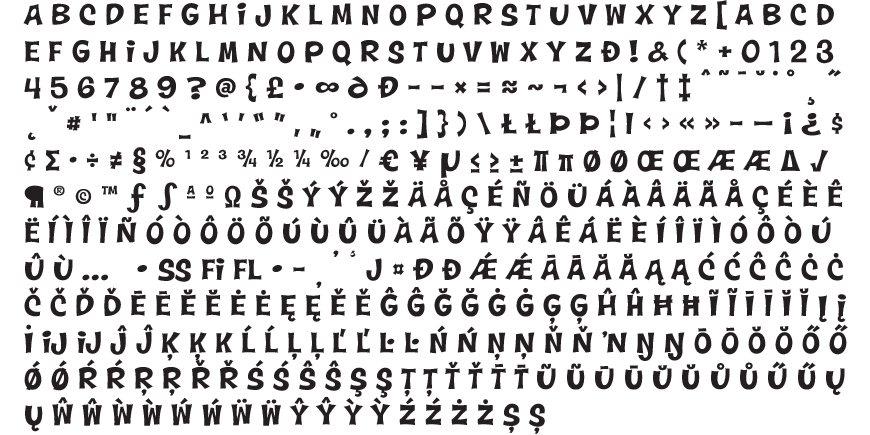 Wonderbear Complete Character Set