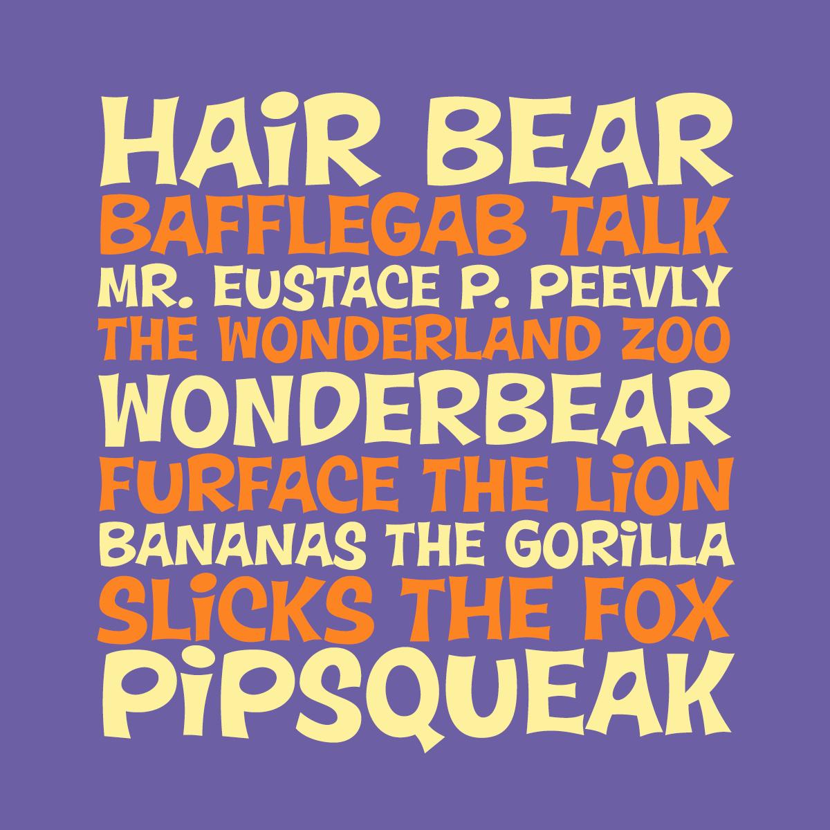 Wonderbear font by Pink Broccoli