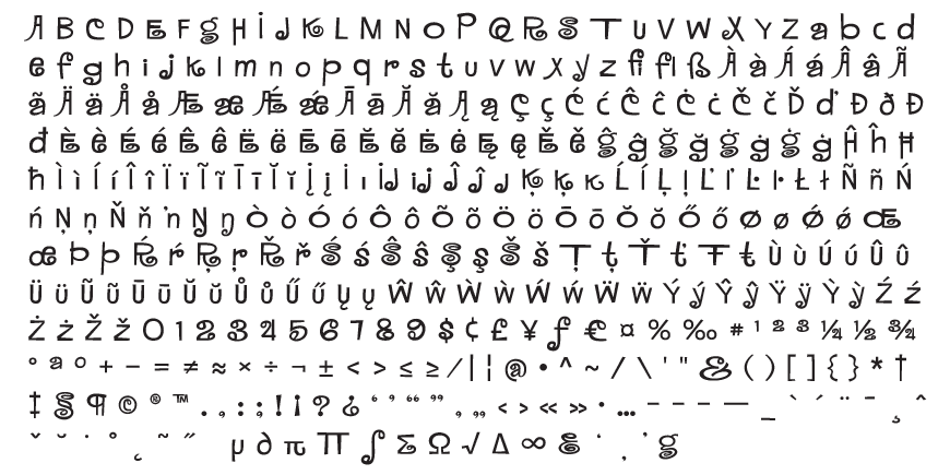 MardiKrewe Complete Character Set