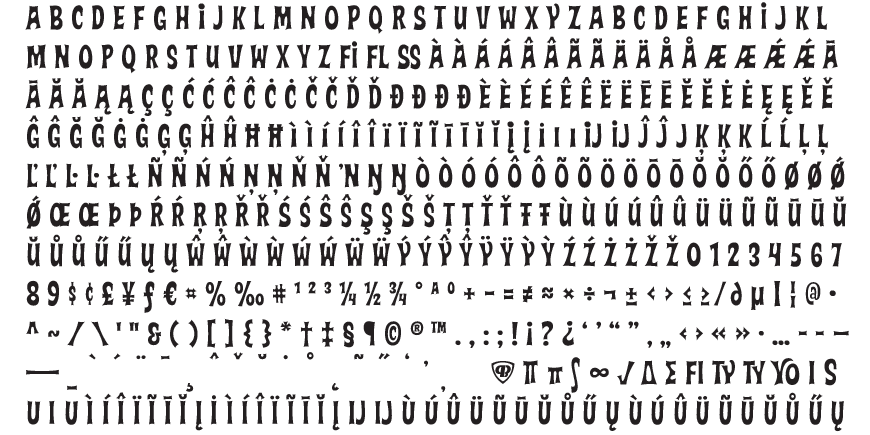 Varmint Complete Character Set